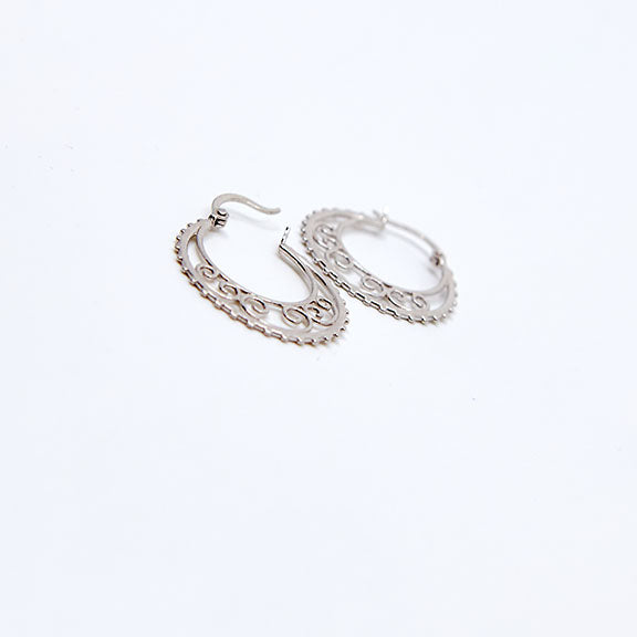 Lace Inspired Hoops