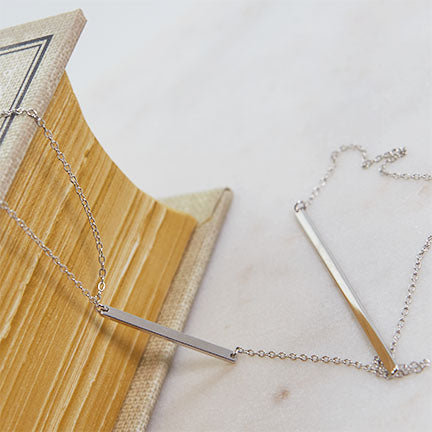 Plain Bar Lariat Necklace