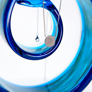 Sparkly Disc Necklace
