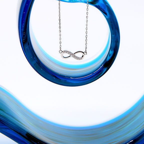 Sparkle Infinity Necklace