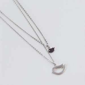 Twin Birds Necklace