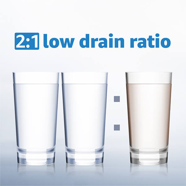 2:1 low drain ratio