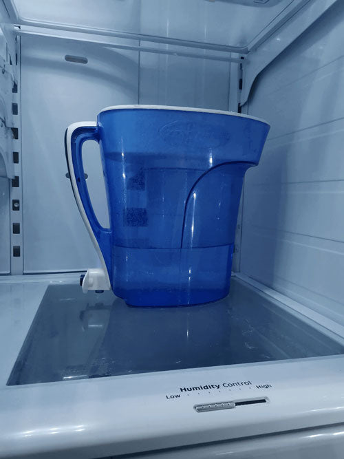 ZeroWater Pitcher in the refrigerator