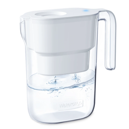 De-Lovely 5-Cup Water Filter Pitcher, White