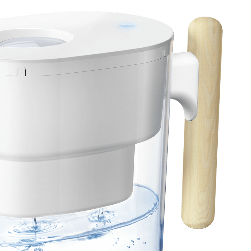 Water Purifier Pitcher, Chubby White