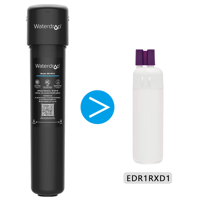 Exterior Refrigerator Water Filter Compatible with Whirlpool Filter 1, EDR1RXD1, W10295370A and 46-9930