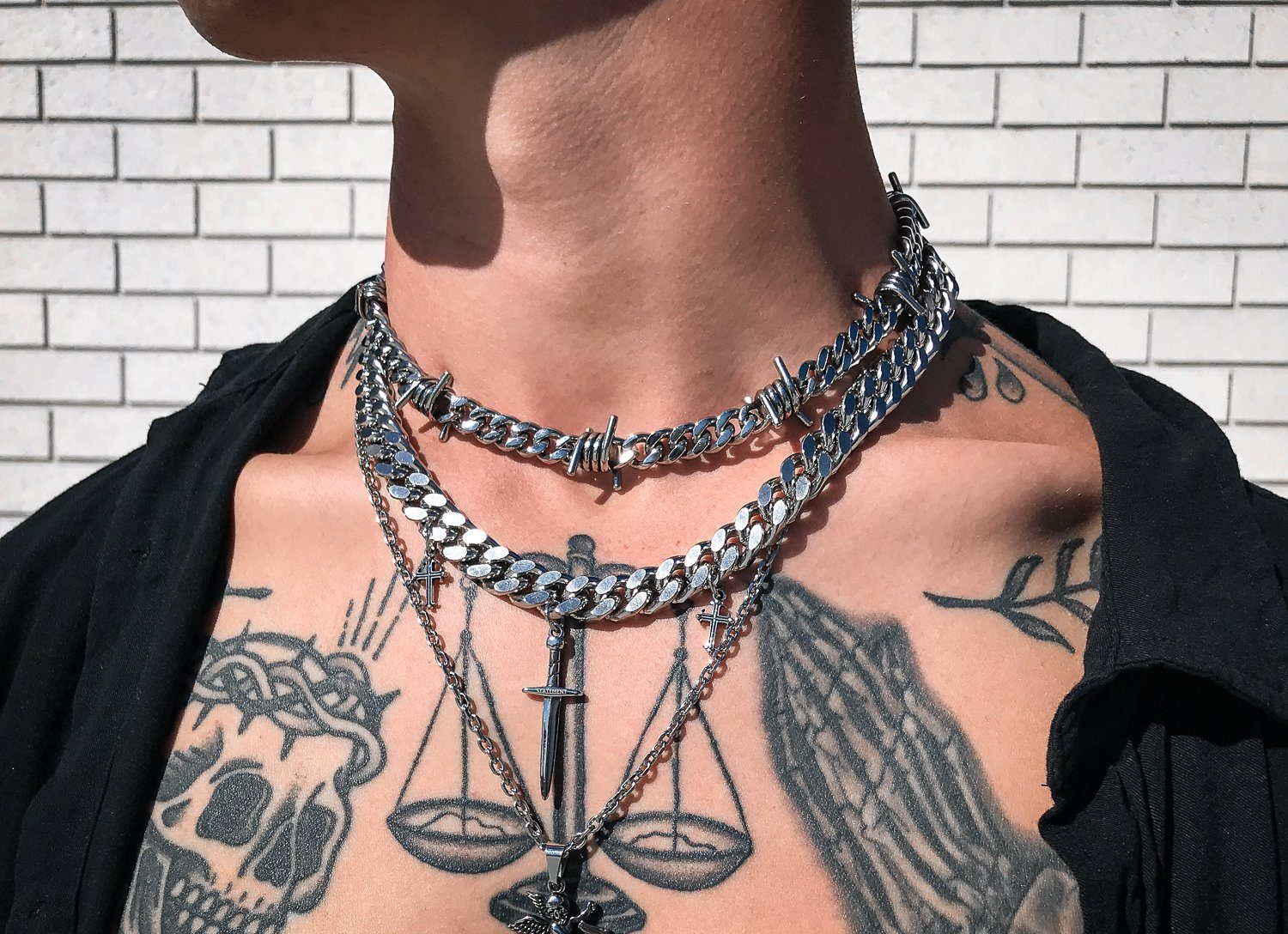The Anatomy of The Barbed Wire Cuban Link Necklace