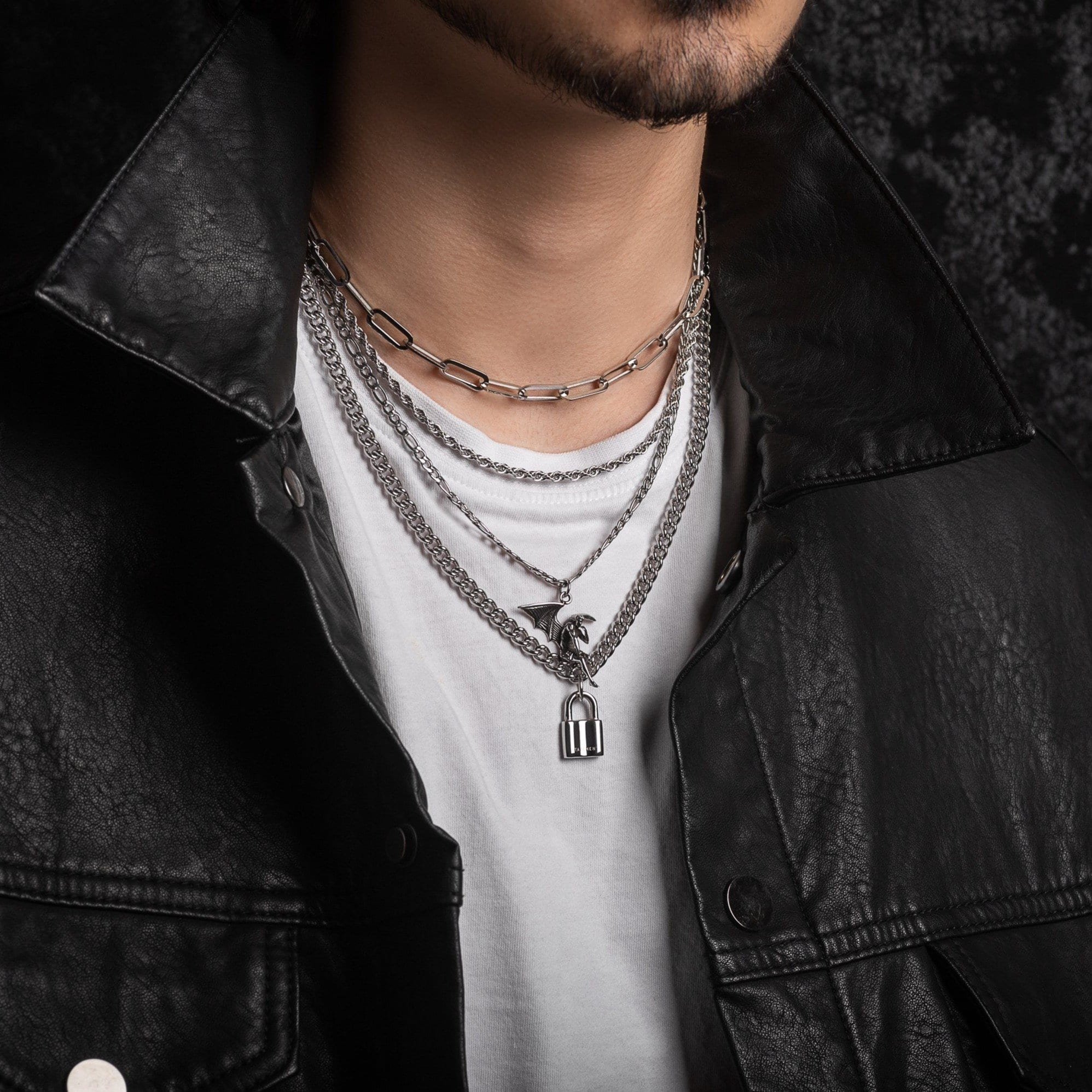 Chrome Lovers Mens Necklace Stack By Statement_01