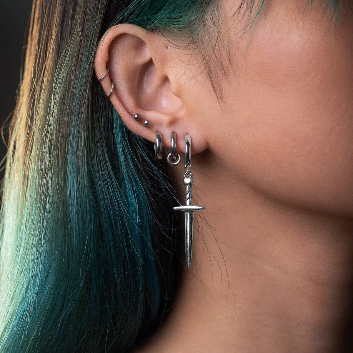 Silver Tone Dagger Earrings By Statement Collective_03