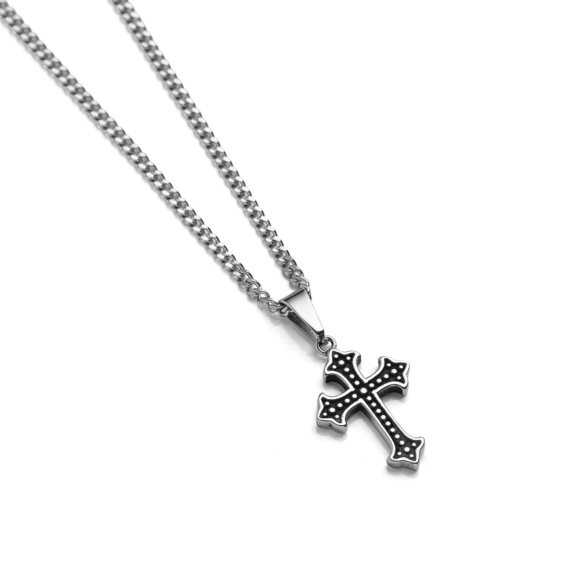 French Cross Pendant Necklace by Statement Collective_01