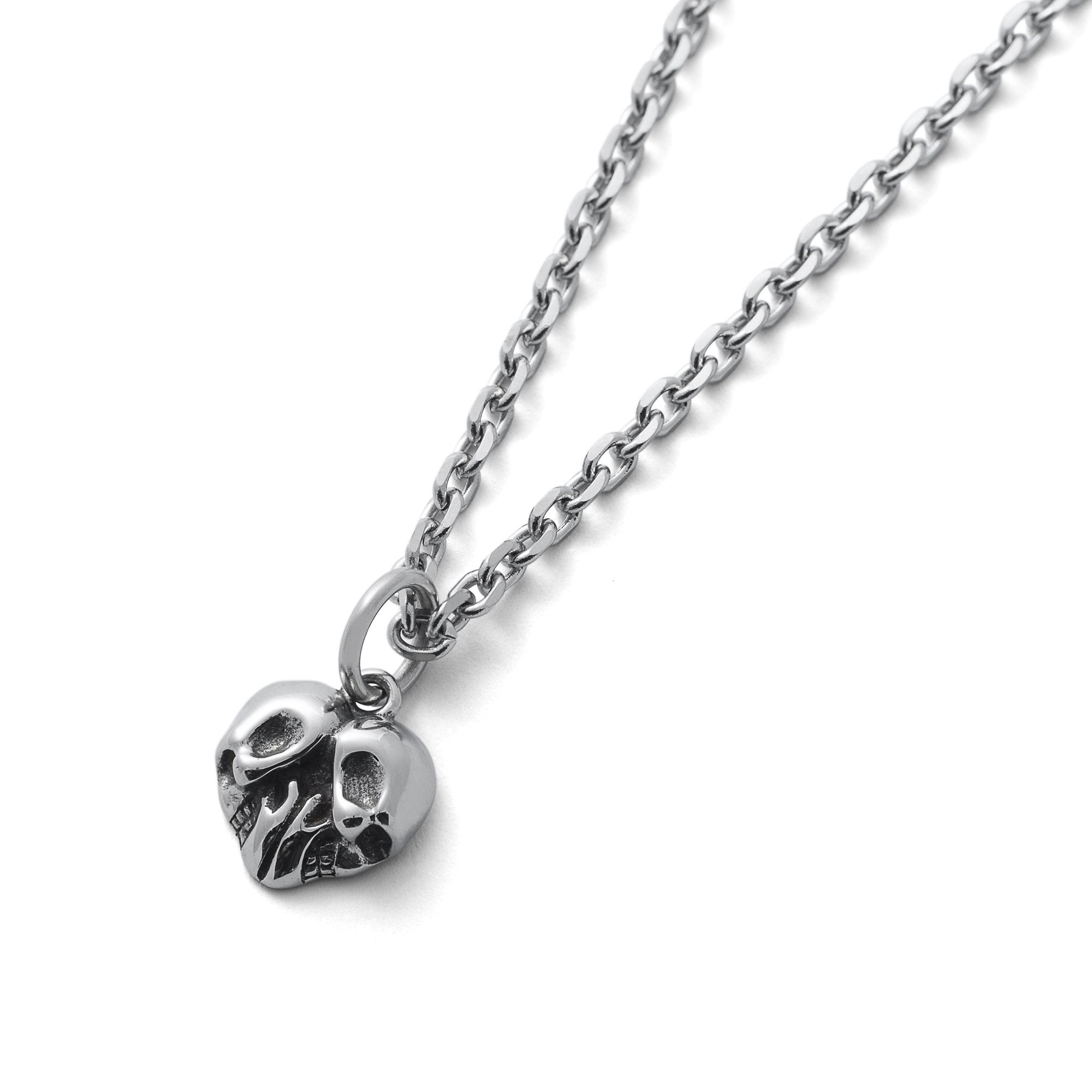 Skull Heart Mens Pendant Necklace by Statement Collective_01