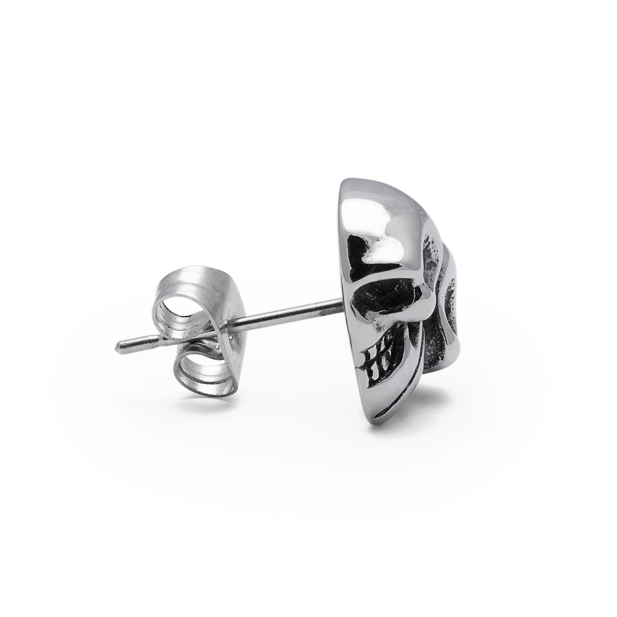 Skull Heart Stud Mens Earring by Statement Collective_03