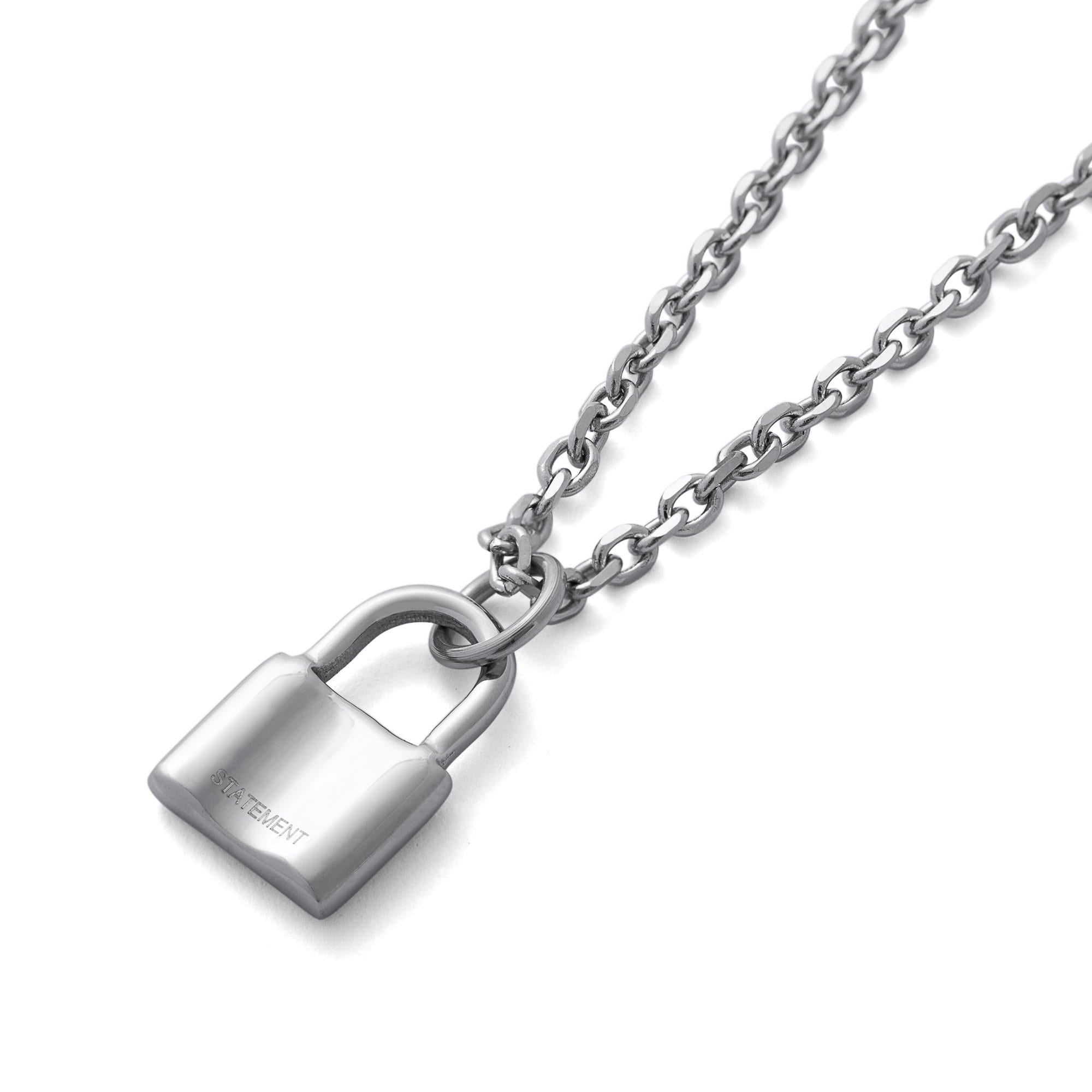 Mini Padlock Necklace Pendant by Statement Collective_01