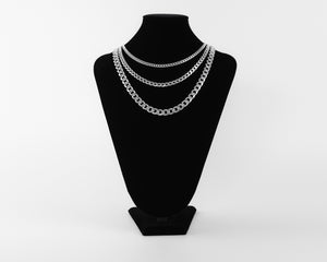 Sterling Silver Cuban Chain Stack // PRE-ORDER* PHYSICAL STATEMENT