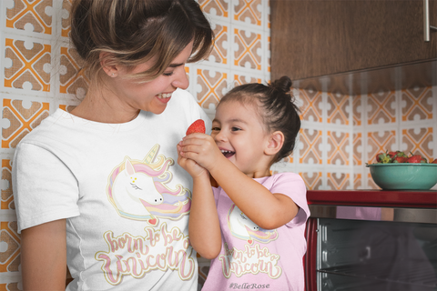 Mom and Daughter Unicorn Shirt
