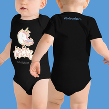 Load image into Gallery viewer, Baby Unicorn Onesie Romper (Customize #name on Front and Back) - Periwinkle Baby