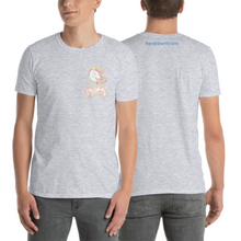 Load image into Gallery viewer, Daddy Unicorn T-shirt (Customize #name on back) - Periwinkle Baby