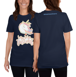 Mommy Unicorn T-Shirt (Customize #name on back) - Periwinkle Baby