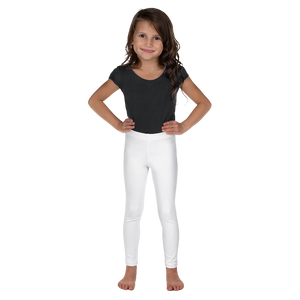White Kids Leggings with UPF for Rash Guard Set - Periwinkle Baby
