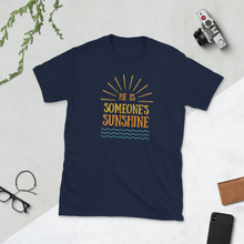 Load image into Gallery viewer, He is Someone's Sunshine Dad and Mom T-Shirt - Periwinkle Baby