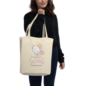 Unicorn Eco Tote Bag (Customize #yourname) - Periwinkle Baby