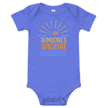 Load image into Gallery viewer, I am Someone's Sunshine Family Matching Onesie - Periwinkle Baby