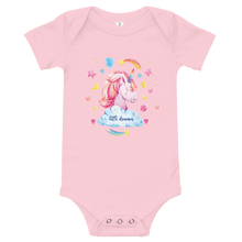 Load image into Gallery viewer, Little Dreamer Unicorn Baby Onesie - Periwinkle Baby