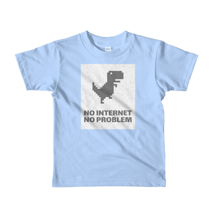 No Internet No Problem Kid Comfy Jersey Cotton Shirt - Periwinkle Baby