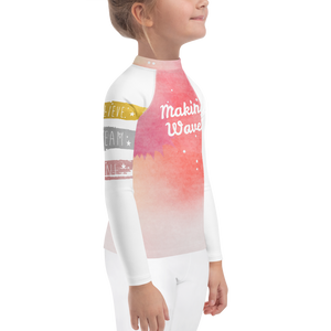 Making Waves Girls Rash Guard UPF - Periwinkle Baby