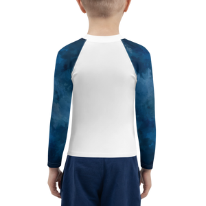 Blue Ocean Shark Attack Boys Rash Guard - Periwinkle Baby
