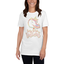 Load image into Gallery viewer, Mommy Unicorn T-Shirt (Customize #name on back) - Periwinkle Baby
