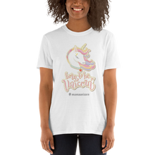 Load image into Gallery viewer, Mommy Unicorn T-Shirt (Customize #name on Front) - Periwinkle Baby