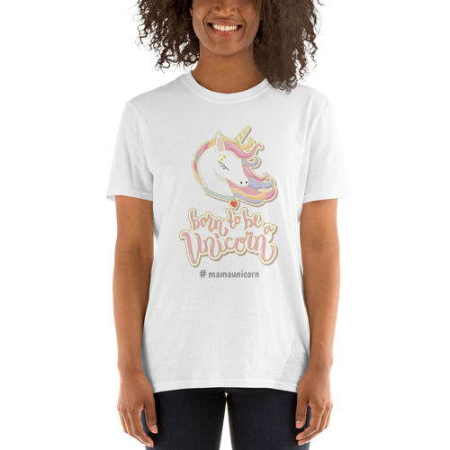 Mommy Unicorn T-Shirt (Customize #name on Front) - Periwinkle Baby