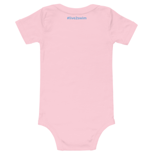 Baby Making Waves Onesie Romper (Customize #name on Front and Back) - Periwinkle Baby