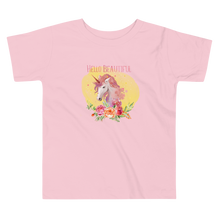 Load image into Gallery viewer, Hello Beautiful Unicorn Toddler T-shirt - Periwinkle Baby