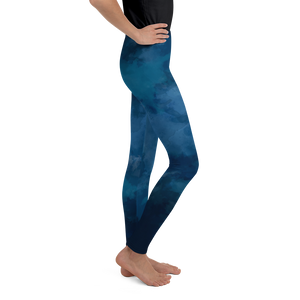 8-20yrs old Deep Blue Girls Leggings for Rash Guard Set - Periwinkle Baby