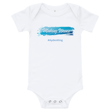 Load image into Gallery viewer, Baby Making Waves Onesie Romper (Customize #name on Front and Back) - Periwinkle Baby