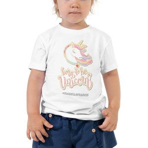 Toddler Unicorn Tshirt (Customize #name on Front and Back) - Periwinkle Baby