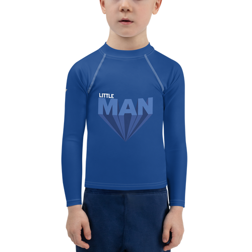 Little Man Dreams Big Boy Rash Guard - Periwinkle Baby