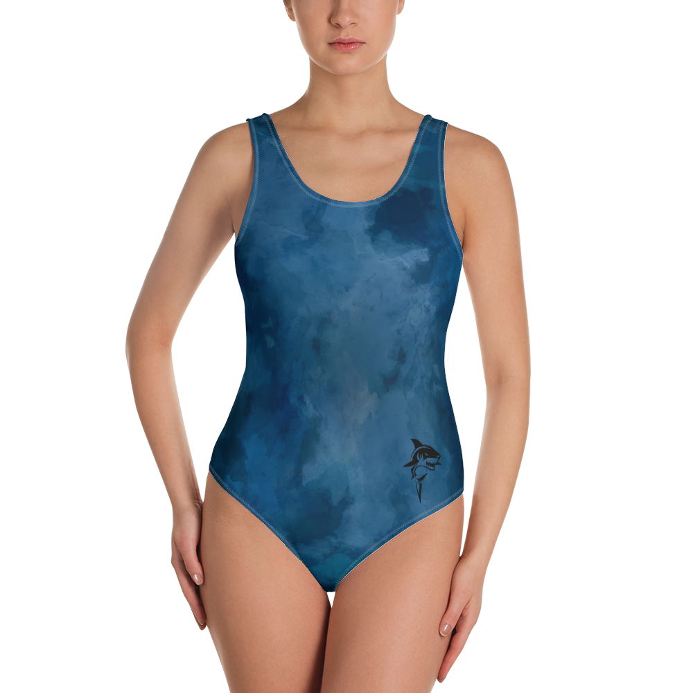 Deep Blue Shark Women Swimsuit - Periwinkle Baby