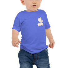 Load image into Gallery viewer, Baby Unicorn Jersey Short Sleeve Tee (Customized #name on Back) - Periwinkle Baby