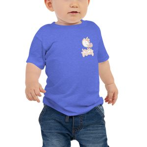 Baby Unicorn Jersey Short Sleeve Tee (Customized #name on Back) - Periwinkle Baby