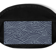 Load image into Gallery viewer, Nami Japanese Waves Water-resistant Fanny Pack - Periwinkle Baby