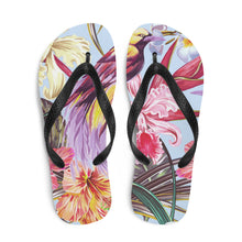 Load image into Gallery viewer, Exotic Bird Paradise Flip Flops - Periwinkle Baby