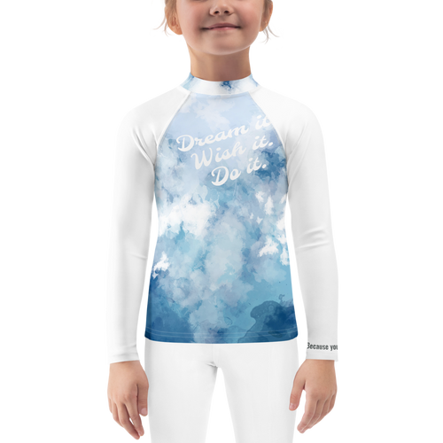 Dream it Boys and Girls Rash Guard - Periwinkle Baby