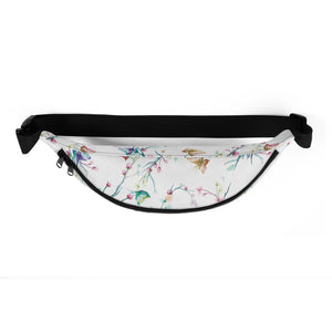 Birds in Spring Time Water-resistant Fanny Pack - Periwinkle Baby