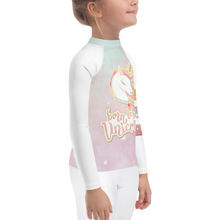 Load image into Gallery viewer, Girls Stardust Unicorn Rash Guard UPF - Periwinkle Baby