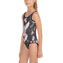 Load image into Gallery viewer, Tsuru Japanese Kimono Style Kids Swimsuit - Periwinkle Baby