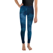 Load image into Gallery viewer, 8-20yrs old Deep Blue Girls Leggings for Rash Guard Set - Periwinkle Baby