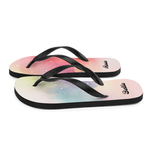 Load image into Gallery viewer, Watercolor Splash of Colors Flip-Flops (Customize #name) - Periwinkle Baby